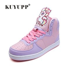 Sweet Cartoon Animation Ladies Shoes 2016 Autumn Newest High Top Skate Shoes Superstar Women Luxury Brand Casual Shoes YD152
