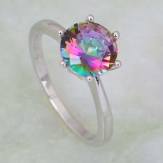 Find More Rings Information about Promotion Top quality Hot Pink Rainbow Mystic Topaz 925 Stamp Sterling Silver Overlay rings woman fashion jewelry R231,High Quality jewelry support,China jewelry closet Suppliers, Cheap jewelry workbench from Dana Jewelry Co., Ltd. on Aliexpress.com