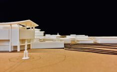 printed architecture Model of Panmunjom Village within DMZ between North & South Korea. Joint Security Area, Longitudinal Section, Freedom House, Wooden Columns, Restaurant Marketing, Architecture Models, North South, Create Space, Concert Hall