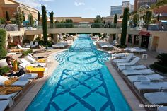 If you have to go to  Las Vegas, Wynn has the best pool - in my opinion