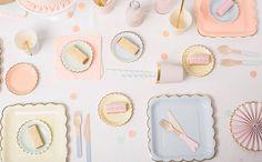 Collection Pastel by Baby Prestige, parfaite pour une décoration de baby shower raffinée, disponible sur le e-shop de la marque.