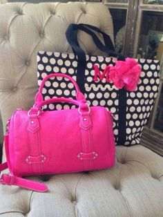Pretty in Pink our Signature Barrel & Day Tripper is the perfect Day Out Combo! Earn yours FREE when you Host a Party!  Contact me Today:  Jenneifer Jones  sassypurseparty@yahoo.com www.myinitials-inc.com/sassypurseparty