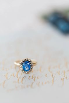 blue stone #engagement #ring from Blue Berry Farm shoot in Indiana http://www.trendybride.net/blue-barn-berry-farm-indiana-shoot/ {trendy bride}