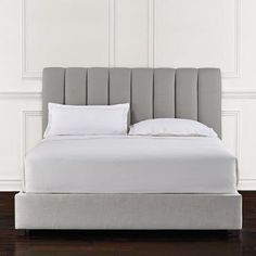 channelled upholstered bed