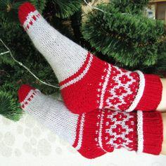 Items similar to Knit socks. Hosiery on Etsy Slipper Socks, Slippers, Wool Socks, Knitting, Trending Outfits, Unique Jewelry, Handmade Gifts, Happy, House
