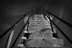 While waiting for summer _______________________________________ Hvalstrand Bad, Asker March 2013 Jacob's Ladder Jacob's Ladder, March 2013, Abandoned Places, Stairs, Industrial, Deviantart, Architecture, Derelict Places, Stairways