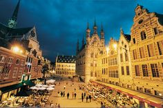 Leuven. Visited there in 1992. It brought me close to a euro college scene that felt authentic yet film  -like and surreal.