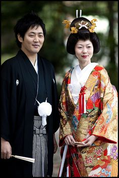 We do want to incorporate some Japanese elements since the groom is Japanese (though we won't be wearing these clothes...)