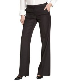 Tahari black 'Roxie' stretch wide leg pants