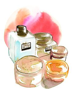 Picture products « watercolor & ink — Samantha Hahn: Illustration + Surface Pattern