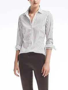 Riley-Fit Ruffle Cutout Shirt
