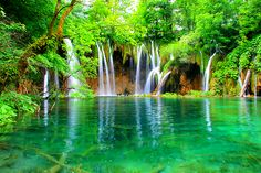Waterfall, Plitvice, Croatia