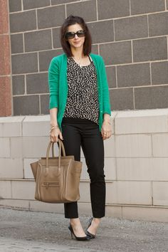 I love this mint cardigan outfit, plus I can still wear it to work ☺