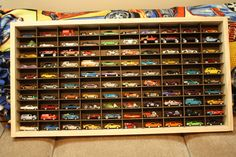 Hot Wheels Display case, give your husband a WHOLE room to display one specific hobby.  I did.....