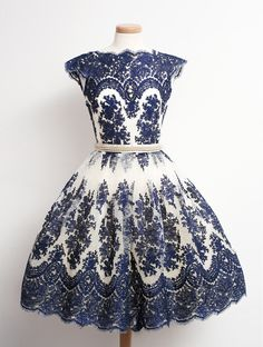 Vintage blue short prom dress, #promdress