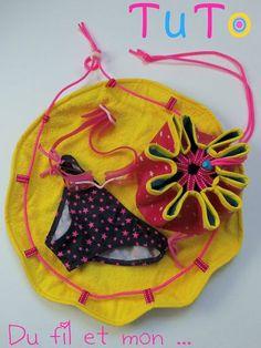 épinglé par ❃❀CM❁✿⊱Tuto pour faire un sac pieds secs pour la piscine : se changer au sec et ranger son maillot mouillé à l'intérieur.