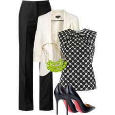 A fashion look from October 2012 featuring Giambattista Valli blouses, Topshop blazers and Maison Margiela pants. Browse and shop related looks.