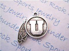 Silver Plated Lead Free Pewter Utah Utes by silverpewtercharms, $2.75