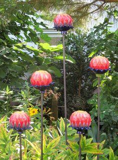 Keramik Distelblüten Ceramic Thistle Flowers