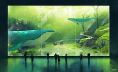 Who wants to go here? Aquarium by US #artist Bao Luu is a place where fish live in a forest!