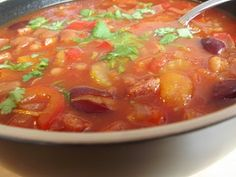 Spicy Mixed Bean & Chorizo Soup - YouTube
