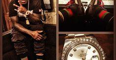 Ace Hood wearing Jordan Spiz'ike #music