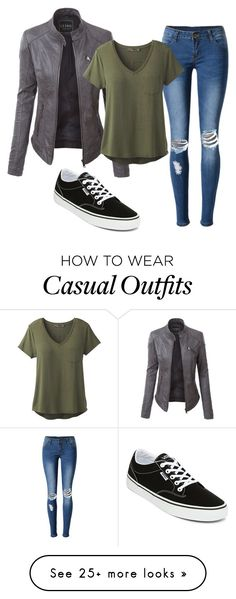 """""""Casual Darks"""" by irishdancer514 on Polyvore featuring WithChic, LE3NO, prAna and Vans"""