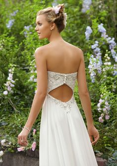 flowy chiffon wedding dress - Google Search