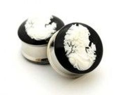 Cameo Resin Plugs gauges - 00g 1/2 9/16 5/8 3/4 7/8 1 inch #dermalpiercing #dermal #piercing #how #to