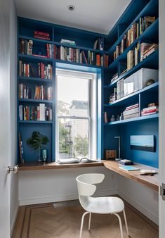 Trendy home office inspiration wall bookcases Home Library Design, Home Office Design, Home Office Decor, Interior Design Living Room, Home Decor, Library Ideas, Study Room Design, Office Ideas, Working Space Design