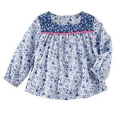 Baby Girl OshKosh B'gosh® Floral Woven Top