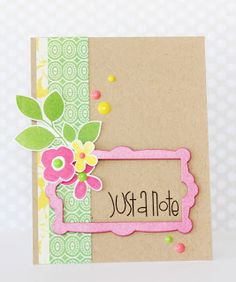 Just A Note #card by Erin Taylor for #PaperSmooches #botanicals