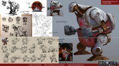 Ironkill App Game Concept Artwork --  Robot Sumoist Noodle, Jay Wong on ArtStation at https://www.artstation.com/artwork/Qrm3l