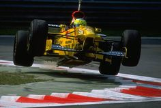 Giancarlo Fisichella of Italy takes off in his JordanPeugeot during qualifying for the Italian Grand Prix in Monza Italy
