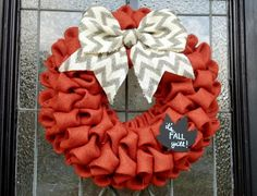Hey, I found this really awesome Etsy listing at http://www.etsy.com/listing/158000930/fall-burlap-wreath-with-chevron-burlap