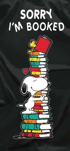 I love books and I love Snoopy! Snoopy Love, Charlie Brown And Snoopy, Snoopy And Woodstock, I Love Books, Good Books, My Books, Reading Quotes, Book Quotes, Time Quotes