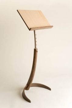 Music stand with some straightforward yet unique design. by Nicholas Dyson
