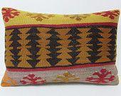 kilim lumbar pillow 16x24 turkish pillow sham cotton pillow case retro pillow sham floor pillow case retro home decor retro cushion 22278