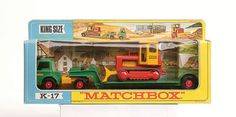 """Matchbox Kingsize No.K17 Ford D800 Articulated Low Loader with Case Bulldozer load """"Taylor Woodrow"""" decals"""