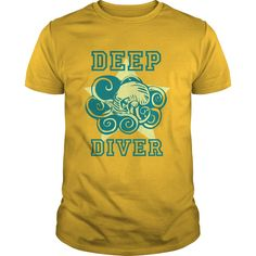 Deep Diver Octopus T-Shirts, Hoodies. SHOPPING NOW ==► https://www.sunfrog.com/Hobby/Deep-Diver--Octopus-Yellow-Guys.html?id=41382