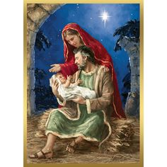 REJOICING HOLY FAMILY CHRISTMAS CARDS