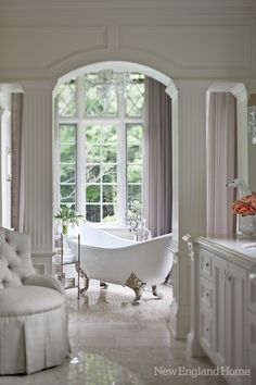 Romantic and inviting clawfoot tub