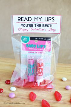 Lip Balm Valentine with printable from Thirty Handmade Days