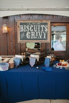 biscuits + gravy bar! | Sara & Rocky