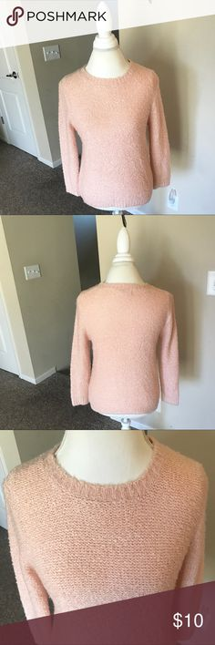 Forever 21 Pink Fuzzy Sweater 🌿condition?: like new 🌿worn? a couple of times 🌿size: medium 🌿color: light pink 🌿design: knit, fuzzy 🌿sleeve length: full-length  🌿wear? very little, if any 🌿material: 90% acrylic, 10% polyester  🌿slight stretch   🌿measurements: armpit to armpit: 18 in. shoulder to bottom: 23.5 in. Forever 21 Sweaters Crew & Scoop Necks
