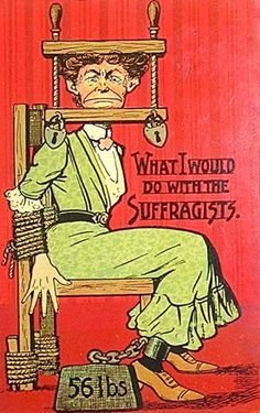 Cruel Anti-Suffragette Cartoons and Posters (19 pics)
