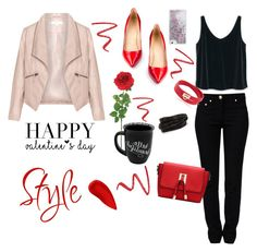 """""""Valentine´s day is coming."""" by kelyashoes ❤ liked on Polyvore featuring Zizzi, MANGO, Moschino, Lipstick Queen, Laura Cole, Pieces, Salvatore Ferragamo, Skinnydip, NARS Cosmetics and women's clothing"""