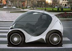 hiriko collapsible electric city car.
