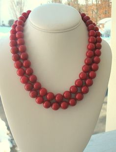 Simple red beads.