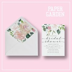 Printable or Printed Bridal Luncheon Invitations - Watercolor Bridal Luncheon - Bridal Luncheon Invites by ShopPaperGarden on Etsy https://www.etsy.com/ca/listing/466462099/printable-or-printed-bridal-luncheon
